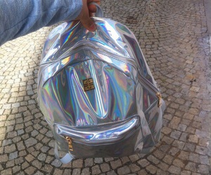 bag, holographic, and tumblr image