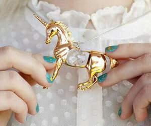 unicorn, gold, and nails image