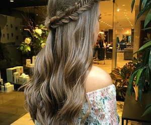 braid, brunette, and hairstyle image
