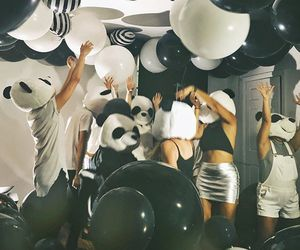 fun, panda, and party image