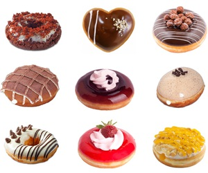 aesthetics, colorful, and donuts image