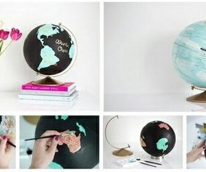 diy, creative, and globe image