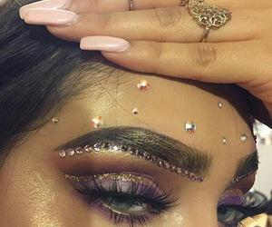 eyeshadow, makeup, and nails image