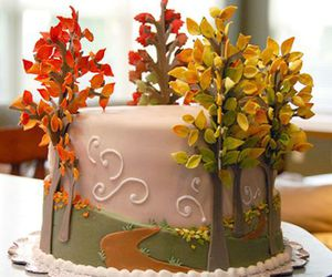 cake, autumn, and fall image