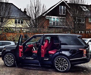 range rover, black, and car image