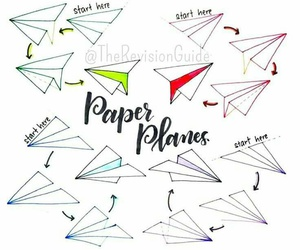 drawing, paper planes, and plane image
