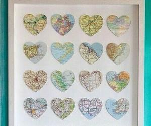 map, diy, and hearts image