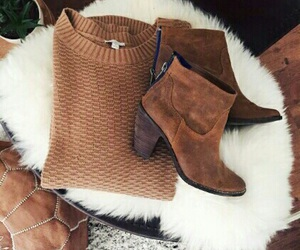sweater, autumn, and boots image