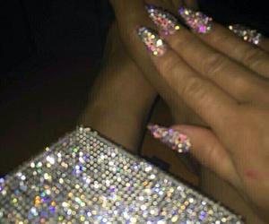 girl, naild, and glitter image