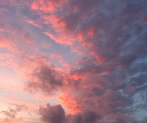 ciel, clouds, and pink image