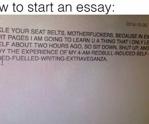 essay, funny, and school image