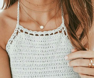 crochet, necklace, and cute image