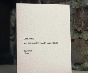 funny, hitler, and Letter image