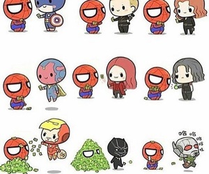 Marvel, Avengers, and spiderman image