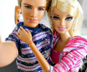 barbie, selfie, and couple image