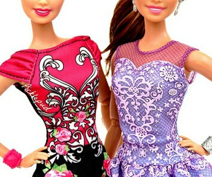 barbie, doll, and dress image