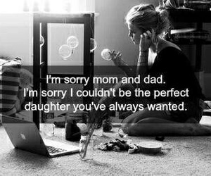 dad, sorry, and mom image