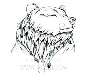 bear, boho, and draw image