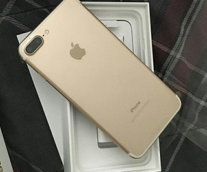 iphone, gold, and iphone 7 image