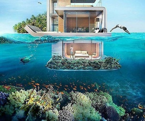 house, home, and ocean image