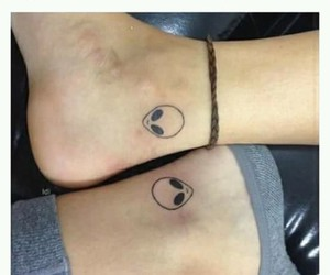 bff, tattoo., and alien. image