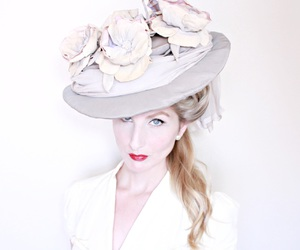 1800s, hat, and lavender image