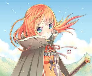 anime, knight, and anime girl image