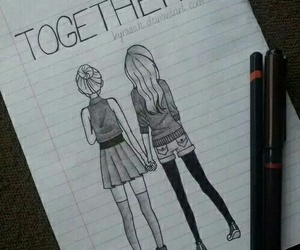 draw, together, and friends image