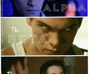 alpha, beta, and human image