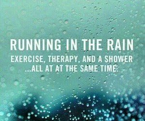 running, fitness, and rain image