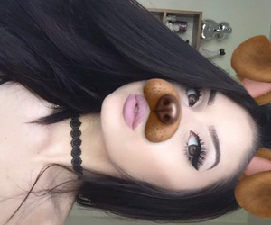black, brunette, and girl image