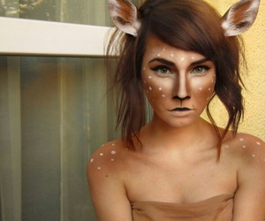 deer, Halloween, and makeup image