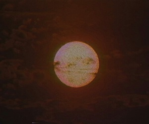 moon, red, and vhs image