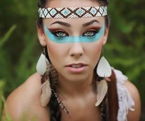Halloween, makeup, and indian image