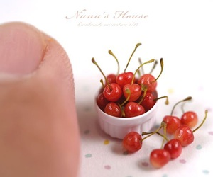 cherry, miniature, and food image