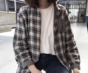 fashion, girl, and casual image