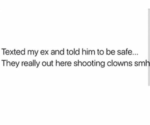 clown, ex, and funny image