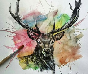 art, paint, and drowing image