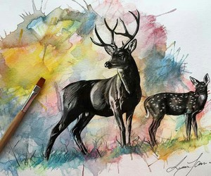 animals, art, and paint image