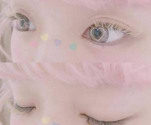 eyes, pastel, and pink image