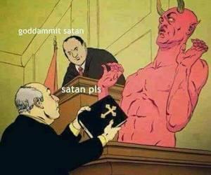 satan, funny, and bible image