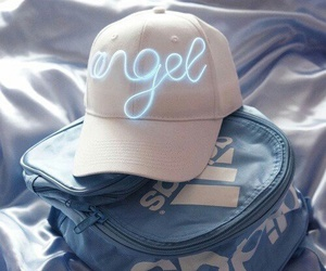 adidas, blue, and angel image