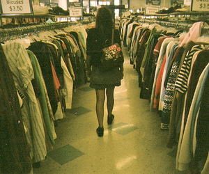 girl, clothes, and shopping image