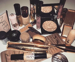 beauty, cosmetics, and gold image