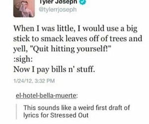 funny, twitter, and twenty one pilots image