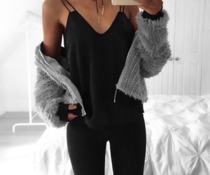black, cool, and fashion image