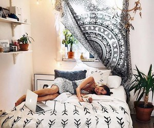 bedroom, boho, and girl image