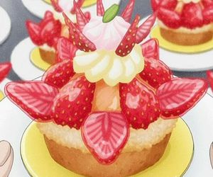 candy, food, and strawberry image