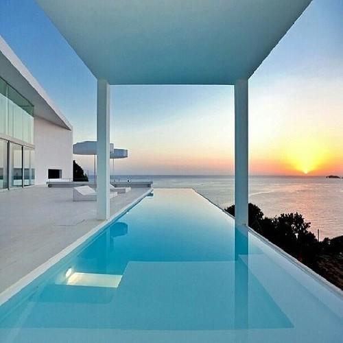 luxury, sunset, and house image