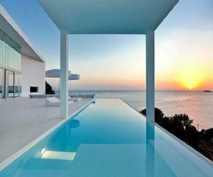 luxury, sunset, and house image